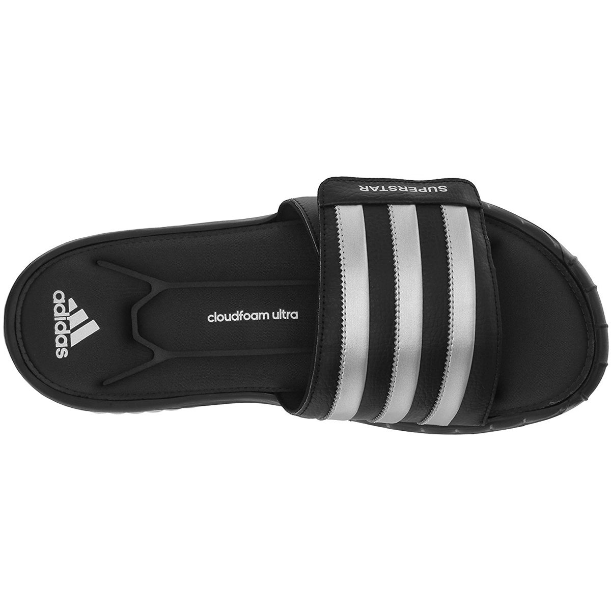 Shop Adidas Superstar 3G CloudFoam Athletic Slide Sandals - Black Silver -  Ships To Canada - Overstock - 19813253 1f14a19c7