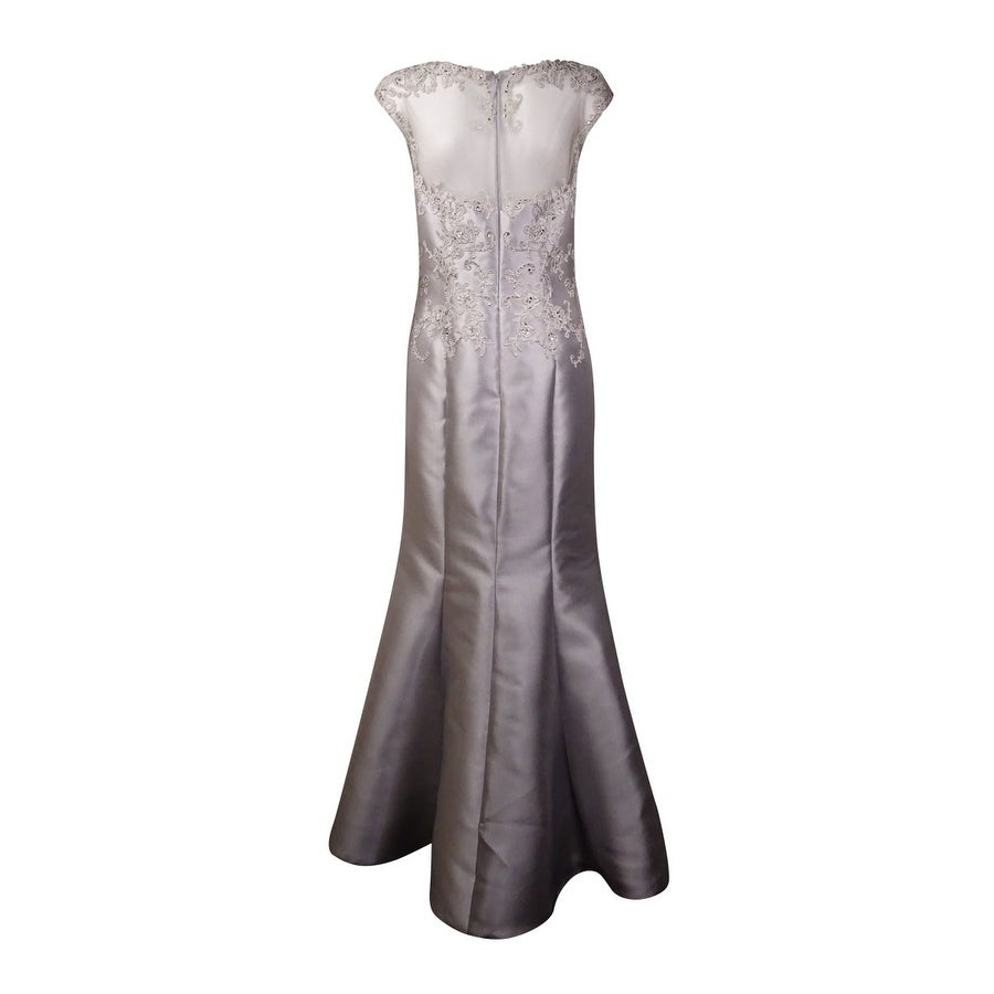 Shop JS Collections Women\'s Illusion Embellished Taffeta Mermaid ...