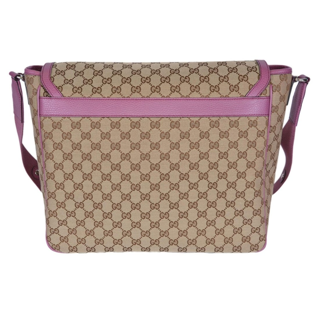 6a66ec11d774 Shop Gucci 510340 Beige Pink Original Canvas GG Convertible Diaper Baby Bag  - Free Shipping Today - Overstock - 21380843