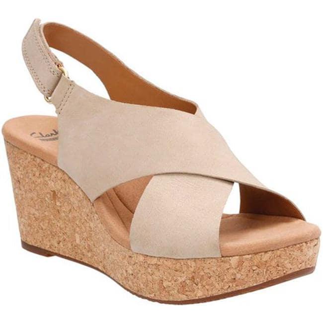 95ef872ac44 Shop Clarks Women s Annadel Eirwyn Slingback Wedge Sandal Sand ...