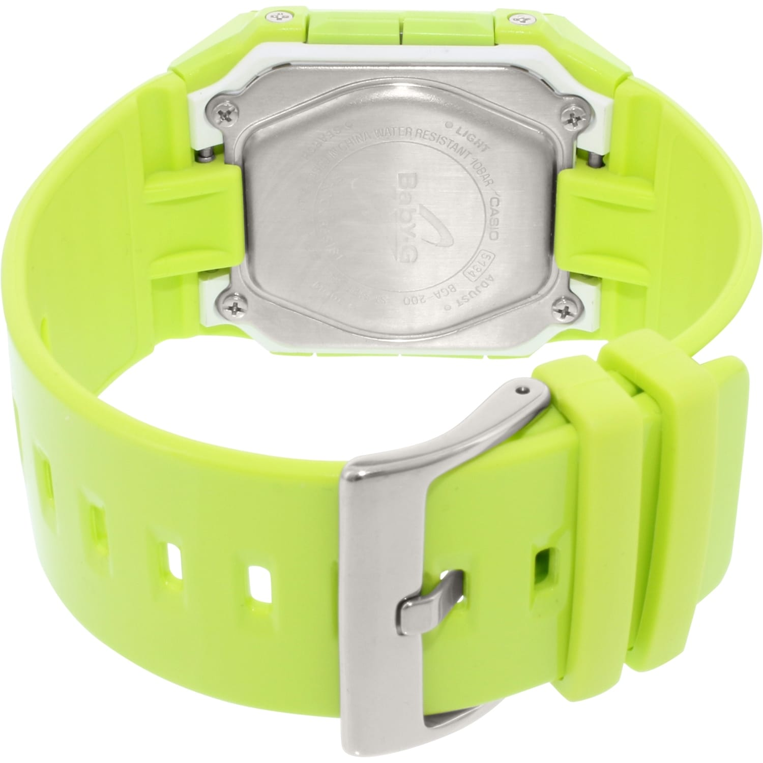Casio Womens Baby G Bga200 3e Green Resin Quartz Fashion Watch Ba 112 4a Free Shipping Today Overstock 24841164