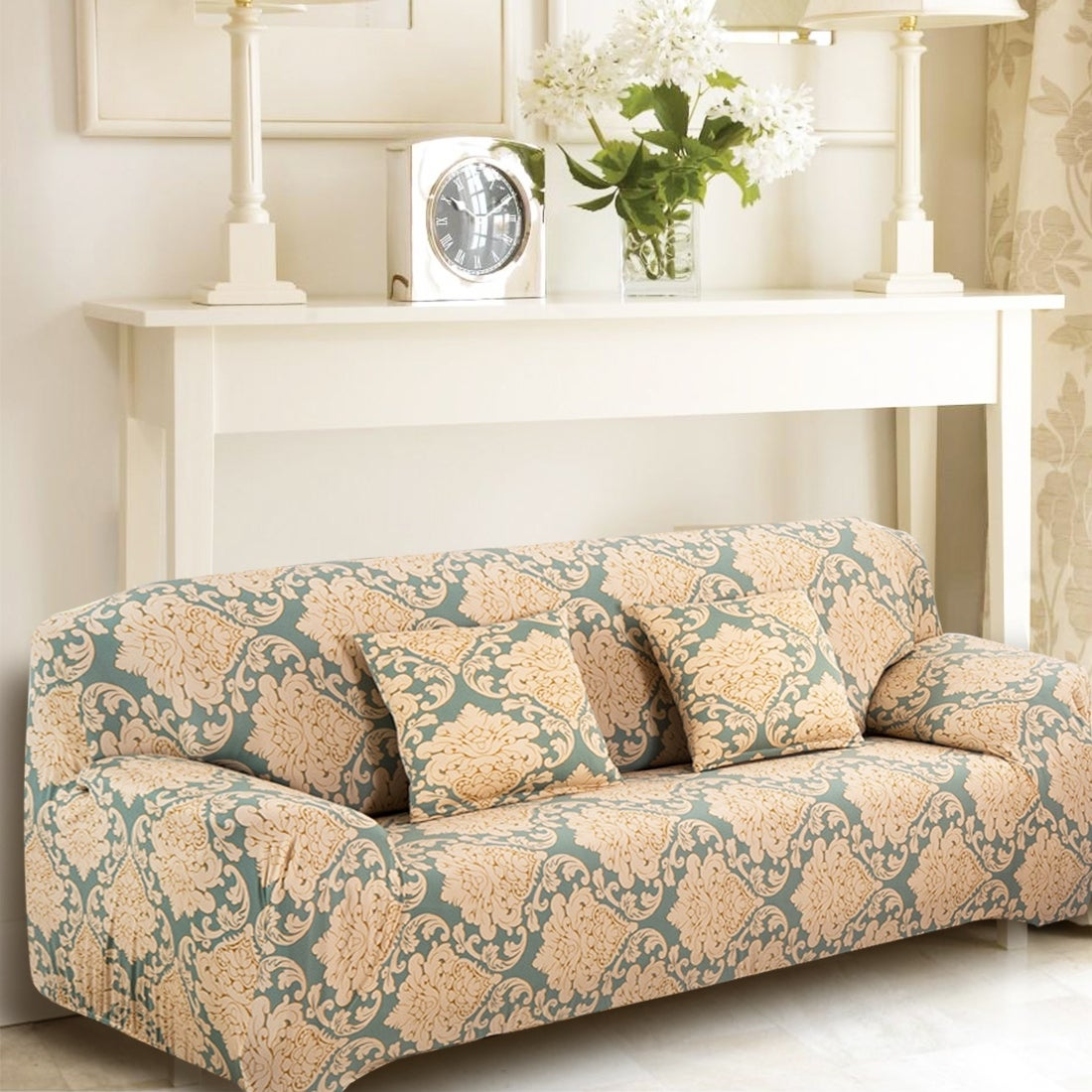 Shop Unique Bargains Flower Pattern Stretch Pattern 16 Loveseat Slipcovers    On Sale   Free Shipping On Orders Over $45   Overstock.com   16633354