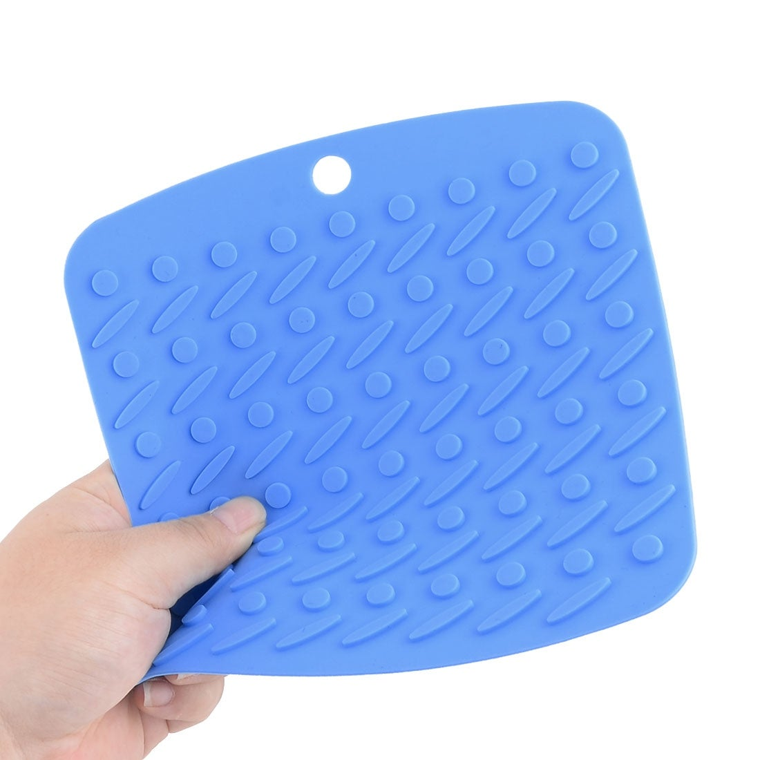 Home Dinnerware Silicone Nonslip Heat Resistant Bowl Cup Pad Mat Placemat  Blue