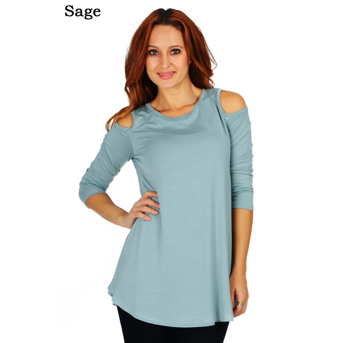 2350c6bd0105 Shop Simply Ravishing Women's Cold Shoulder Flare 3/4 Sleeve Blouse Top  Tunic Shirt (Size: S-5X) - Free Shipping On Orders Over $45 - Overstock -  18528323