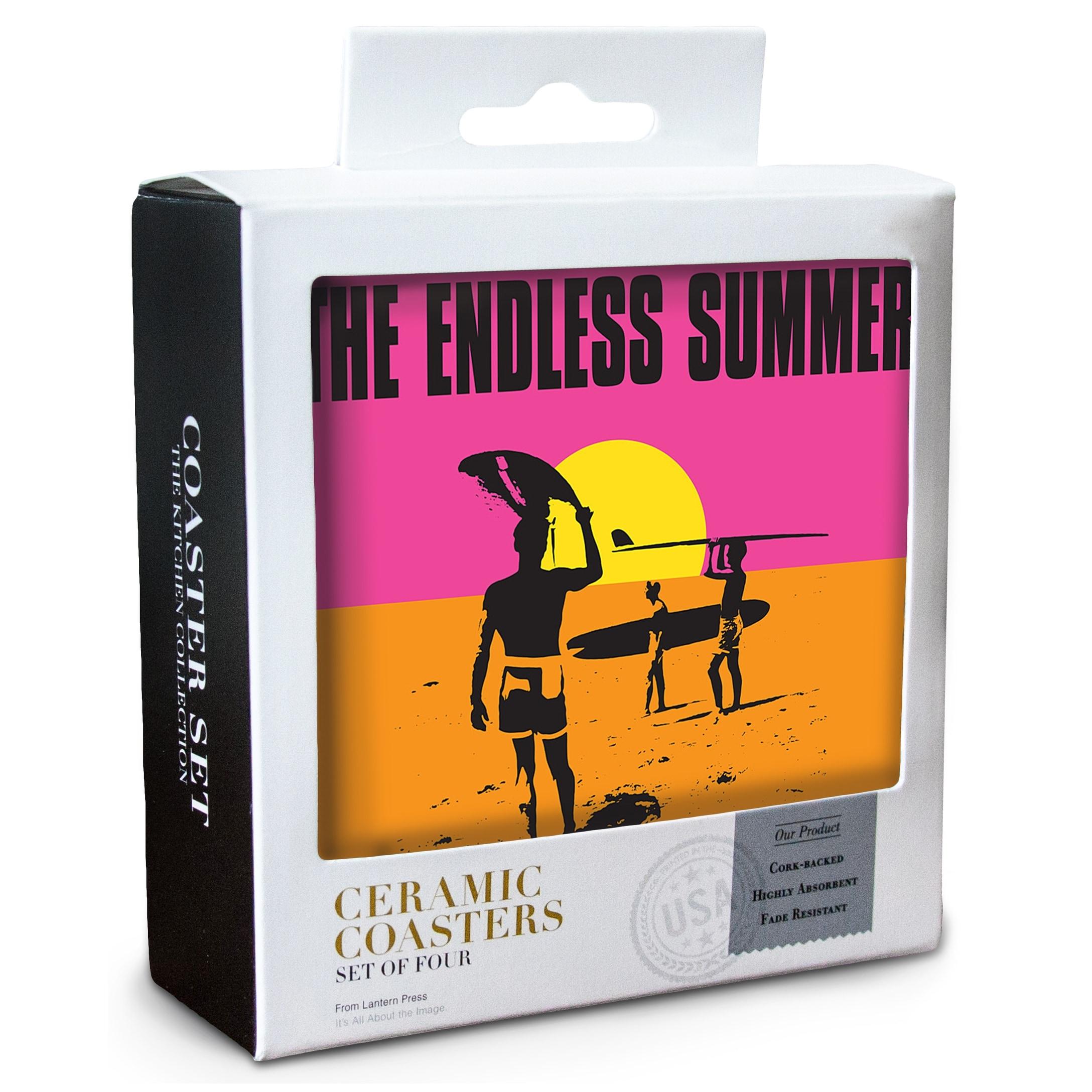 Siesta Key FL Endless Summer Original Movie Poster Set Of 4 Ceramic Coasters