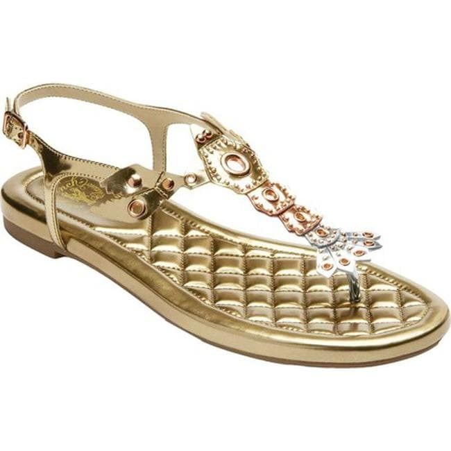 8f61172a73da Cole Haan Women s G.Os Pinch Lobster Thong Sandal Gold Rose Gold Silver  Metallic Specchio Leather