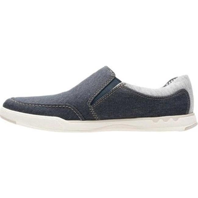 267a12c57996b Shop Clarks Men s Step Isle Slip On Navy Canvas - On Sale - Free ...
