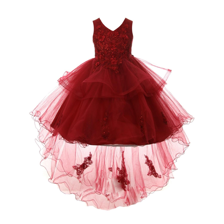 cabb93bdbbe Burgundy Tulle Flower Girl Dresses - raveitsafe