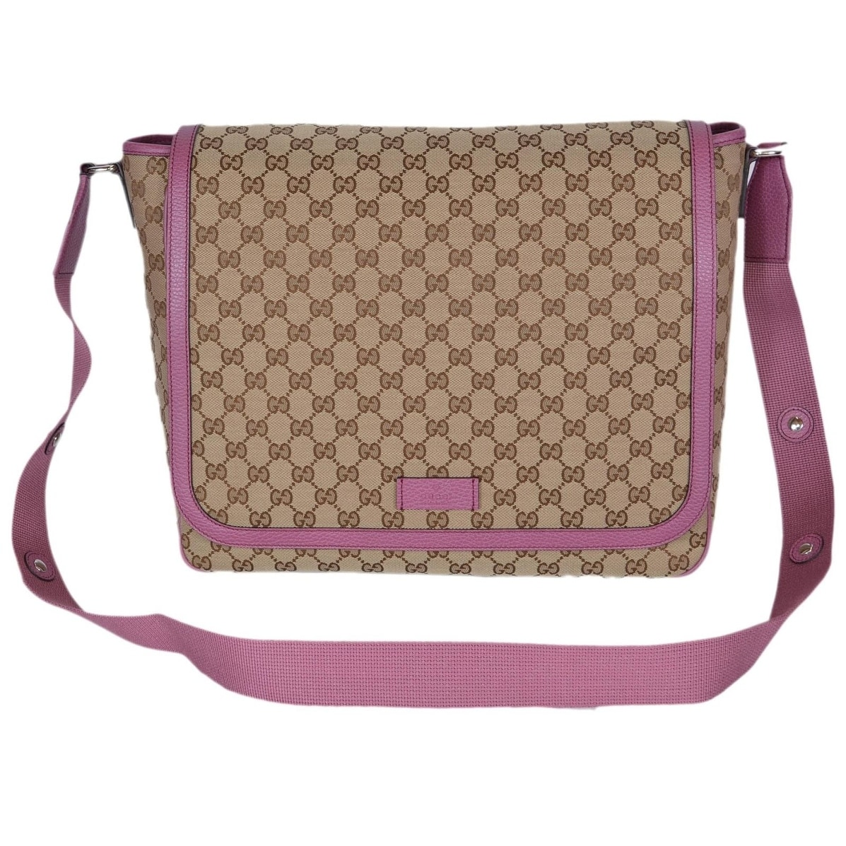 40ae6d266aa Shop Gucci 510340 Beige Pink Original Canvas GG Convertible Diaper Baby Bag  - Free Shipping Today - Overstock - 21380843