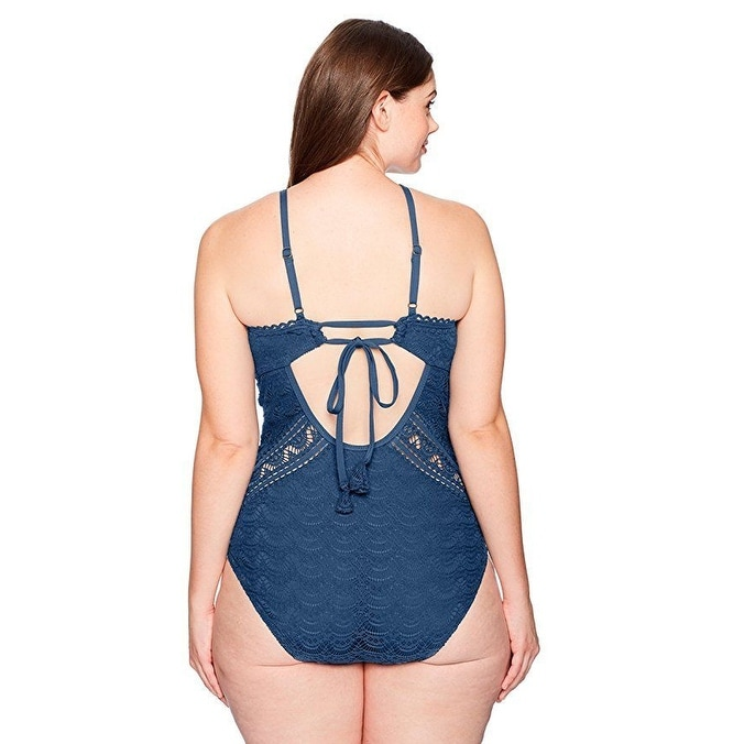 061058cd90d78 Shop BECCA ETC Women s Plus Size Color Play High Neck One Piece SZ  1X -  Free Shipping Today - Overstock.com - 27067802