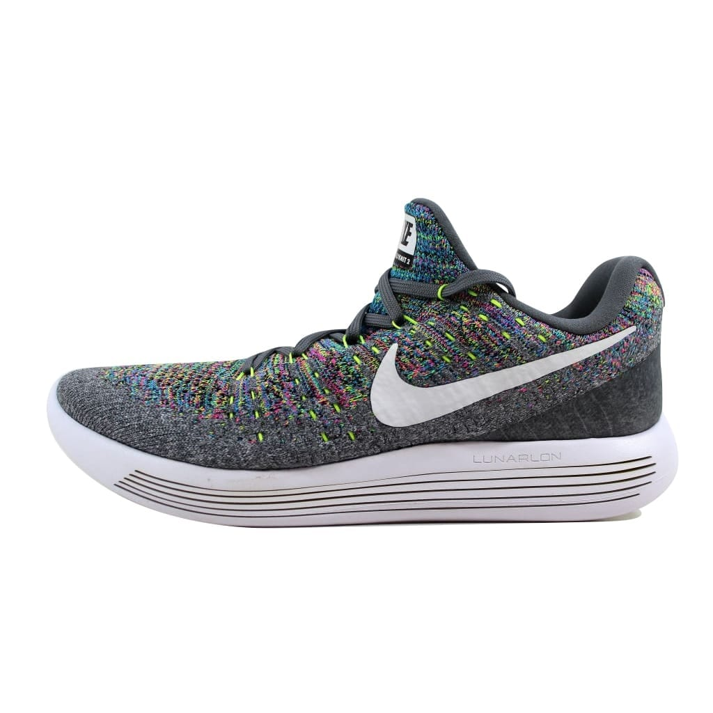 purchase cheap 95b58 d4594 Shop Nike Men's Lunarepic Low Flyknit 2 Cool Grey/White-Volt-Blue Glow  863779-003 - Free Shipping Today - Overstock - 21893847