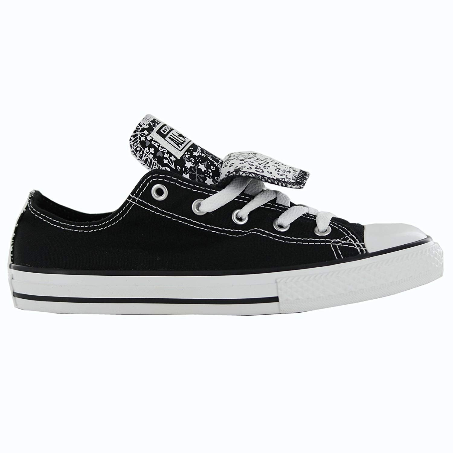 78b5f3e65c4e Shop Kids Converse Girls Chuck Taylor All Star Double Tongue Canvas Low Top  Lace U... - 4 m us - Free Shipping On Orders Over  45 - Overstock.com -  25980528