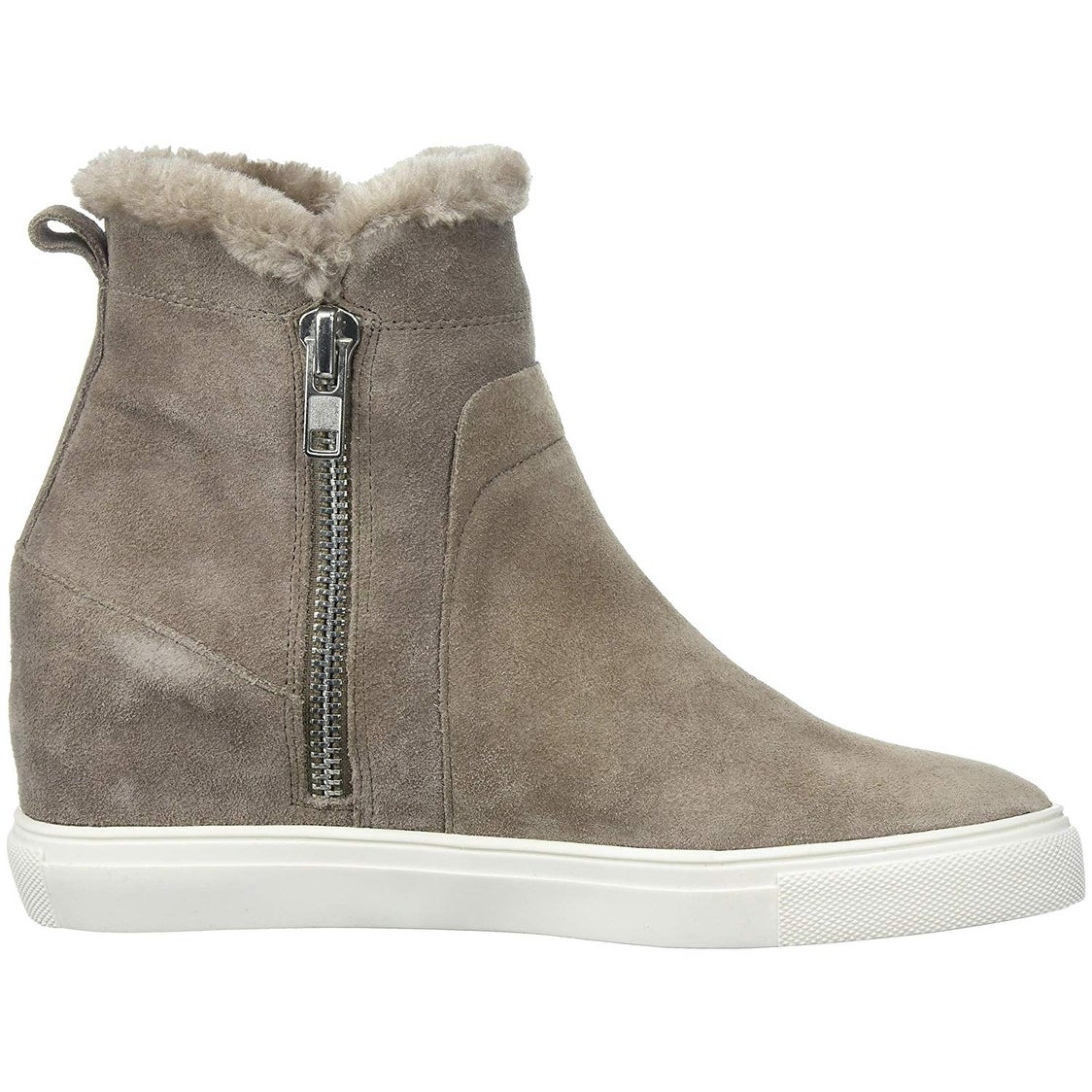 045bf968908 Shop Steven by Steve Madden Womens Cacia Leather Hight Top Zipper Fashion  Sneakers - Free Shipping On Orders Over  45 - Overstock - 23448710