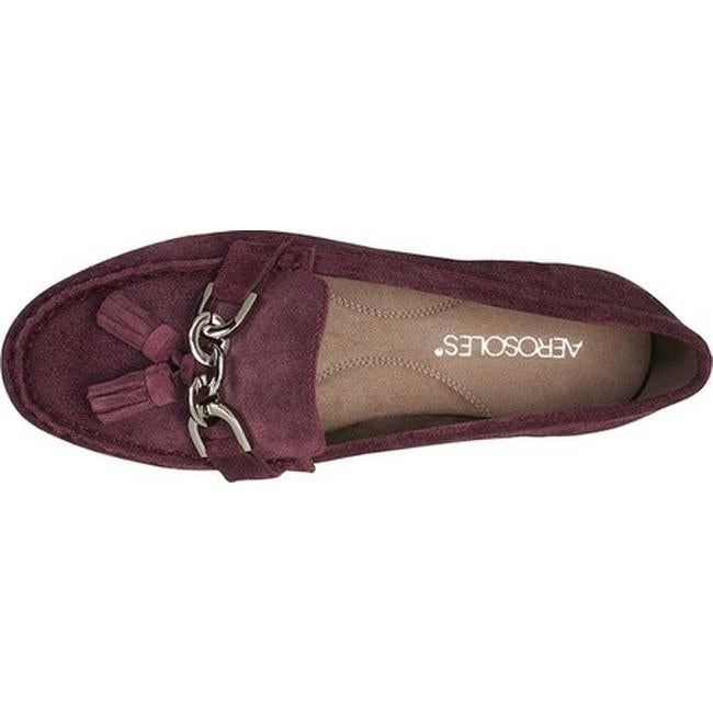 f6c7a1220f6 Shop Aerosoles Women s Soft Drive Loafer Wine Suede - Free Shipping Today -  Overstock - 25321284