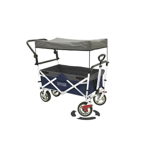 Shop Push And Pull 900550 Kids Collapsible Wagon Stroller With Shade