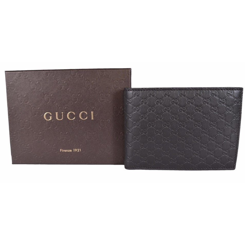 28842e415bcc Shop Gucci Men's 278596 Brown Micro GG Guccissima Large Bifold Wallet -  5