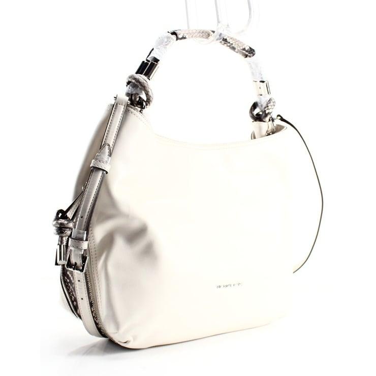 e294d2710ce1d4 Shop Michael Kors NEW Ivory Python Ecru Leather Isabel Shoulder Bag Purse -  Free Shipping Today ...