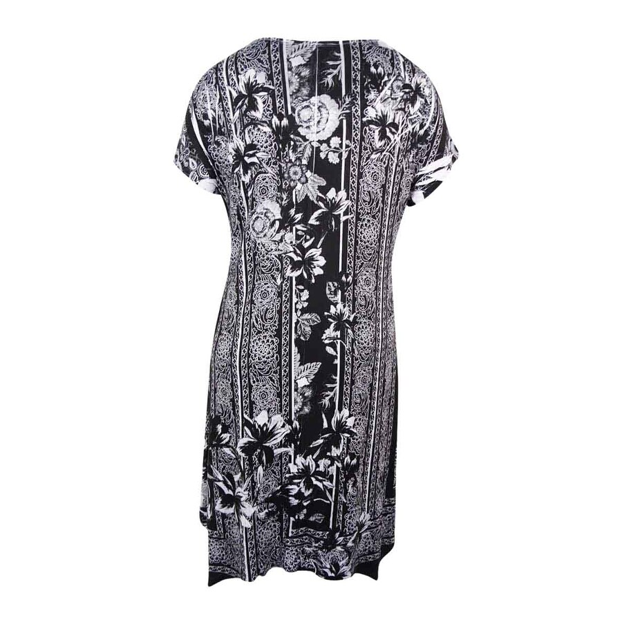 4d6a1e5309382 Shop Style & Co. Women's Plus Size Printed Cap-Sleeve Swing Dress -  unexpected - Free Shipping On Orders Over $45 - Overstock - 17019008