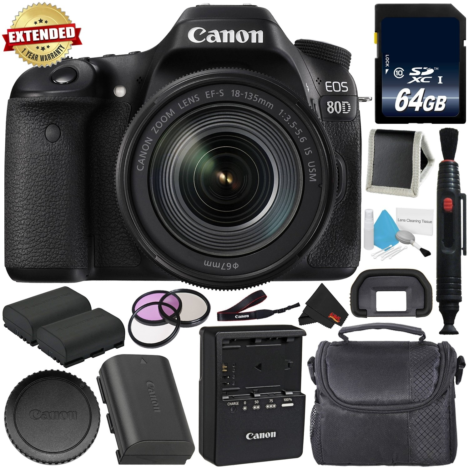 Shop Canon Eos 80d Dslr Camera Bundle Body Only Intl Model The Widest Range Of Leading