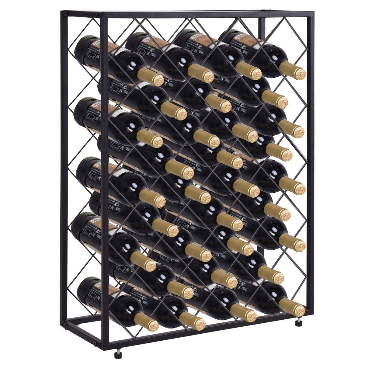 Etonnant Shop Gymax 32 Bottle Wine Rack Metal Storage Display Liquor Cabinet W/Glass  Table Top   Free Shipping Today   Overstock   22971627