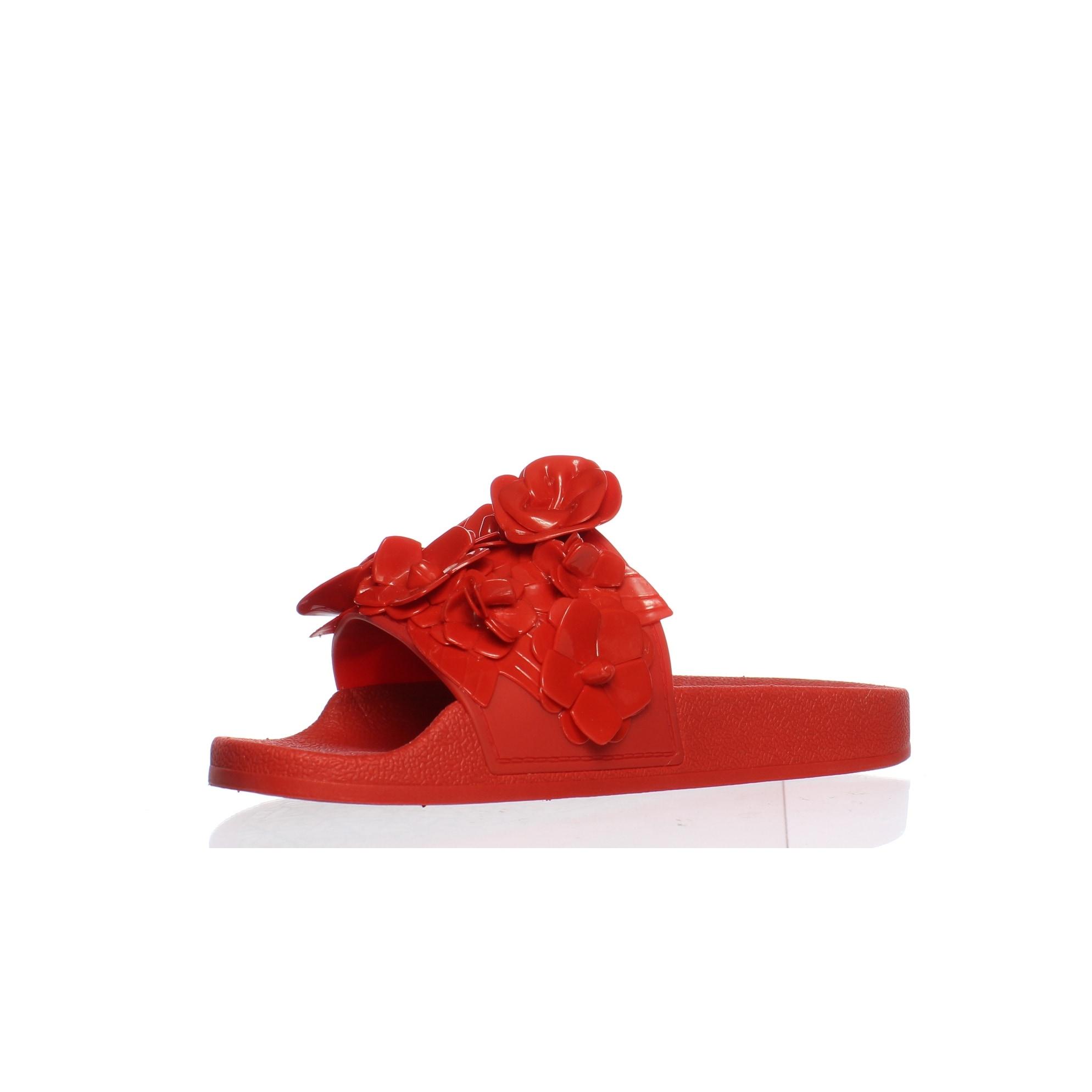 51bc200b767b Shop Tory Burch Womens Blossoms Red Volcano Slides Size 6 - Free ...