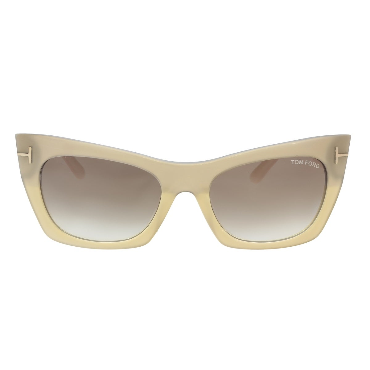 615e4efb8ddf Shop Tom Ford FT0459 S 38F Kasia Beige Cream Cat Eye Sunglasses - 55-19-140  - Free Shipping Today - Overstock - 19474668