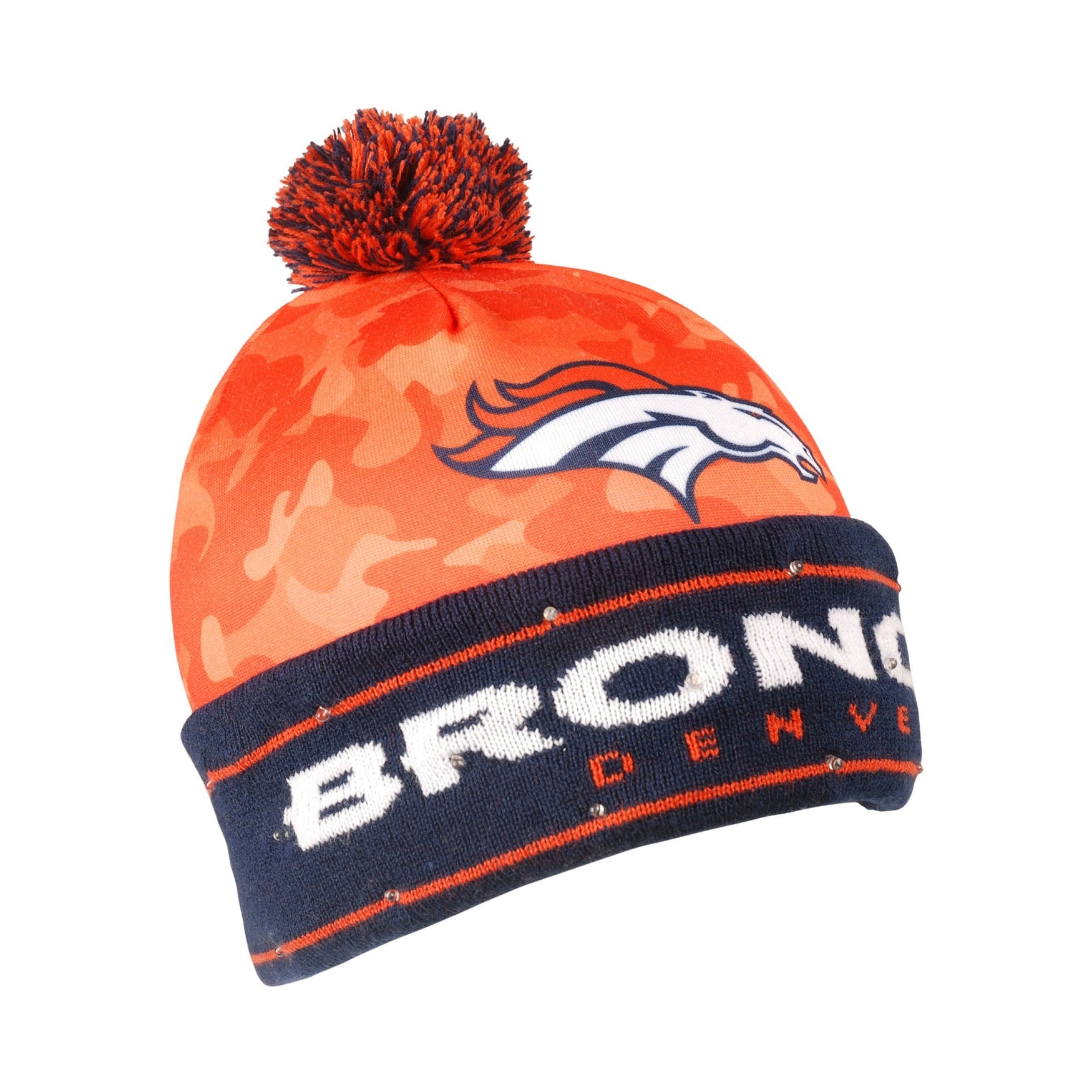 Shop NFL Denver Broncos Camouflage Stocking Hat - Free Shipping On Orders  Over  45 - Overstock.com - 19864794 251910f2cf4