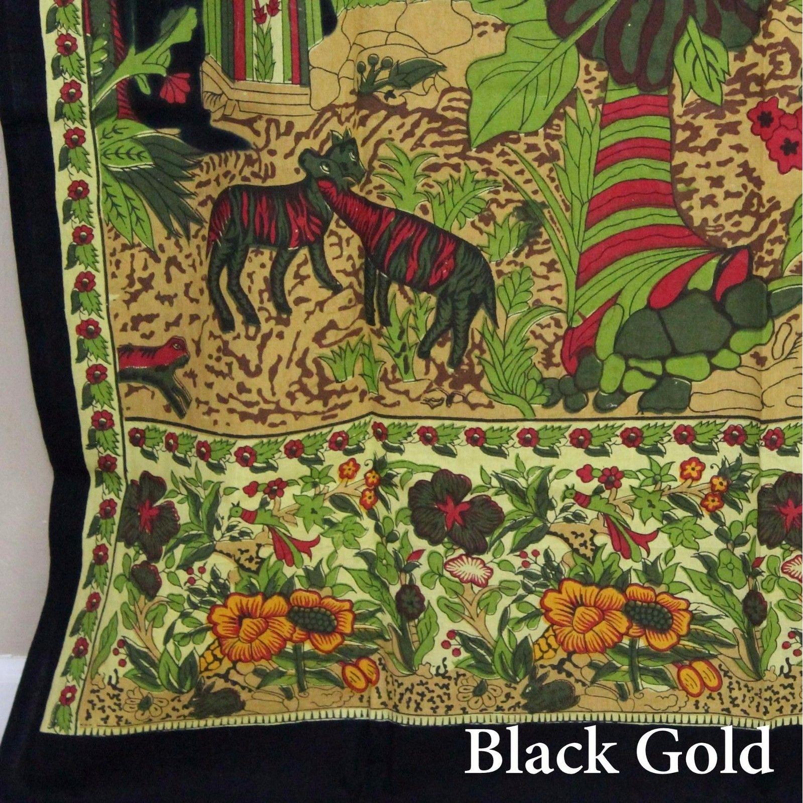 Shop Handmade 100% Cotton Tree of Life Tab Top Curtain Drape Panel ...
