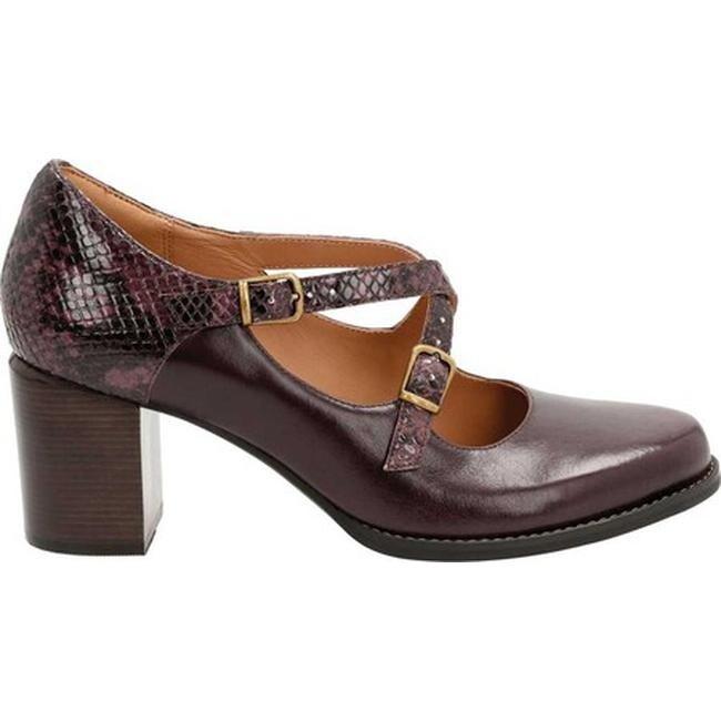 Clarks Strap Shoe Aubergine Shop Presley Adjustable Women's Tarah ggq4dU