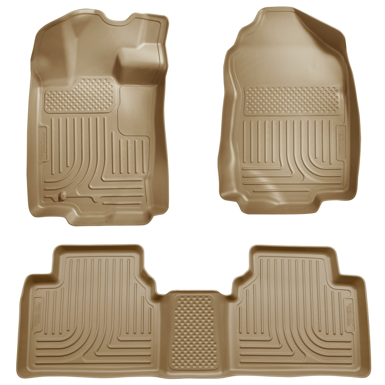 Husky Weatherbeater 2010-2012 Ford Fusion FWD Tan Front & Rear Floor Mats/ Liners - Free Shipping Today - Overstock.com - 21164721