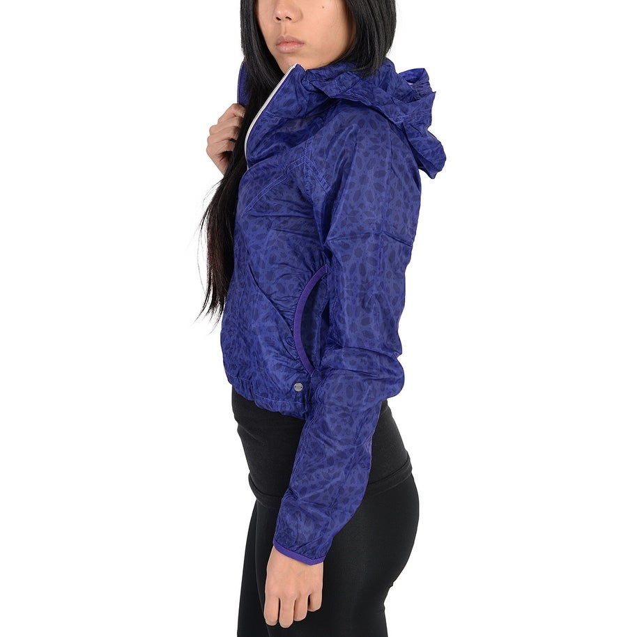 c1d807a8954ee Shop Adidas Womens Pattern Lightweight Windbreaker Jacket Indigo - Free  Shipping On Orders Over  45 - Overstock - 22574001