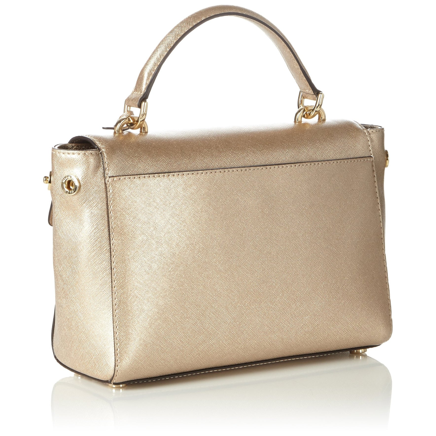 7311f251bb58b7 Shop Michael Kors NEW Pale Gold Leather Ava Small Satchel Purse Handbag - Free  Shipping Today - Overstock - 19573000