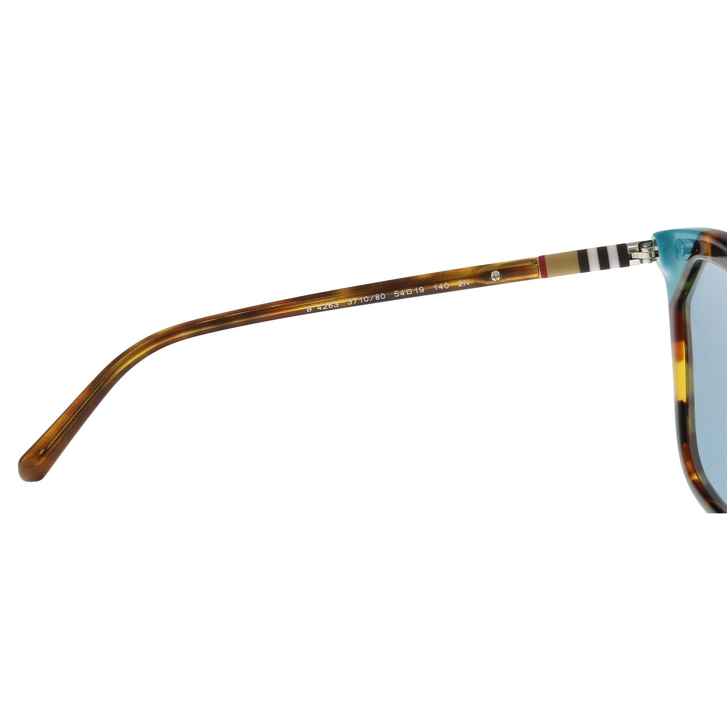 3edb1fffc99 Shop Burberry BE4263 371080 Brown havana azure Butterfly Sunglasses -  54-19-140 - Free Shipping Today - Overstock.com - 21157916