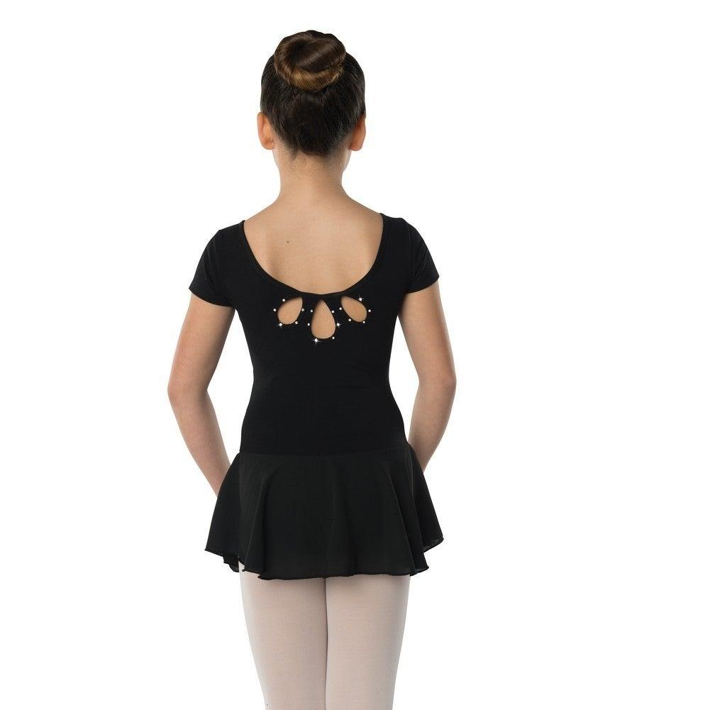 454759a05 Shop Danshuz Little Girls Black Studded Tear Drop Back Cheer Dance ...