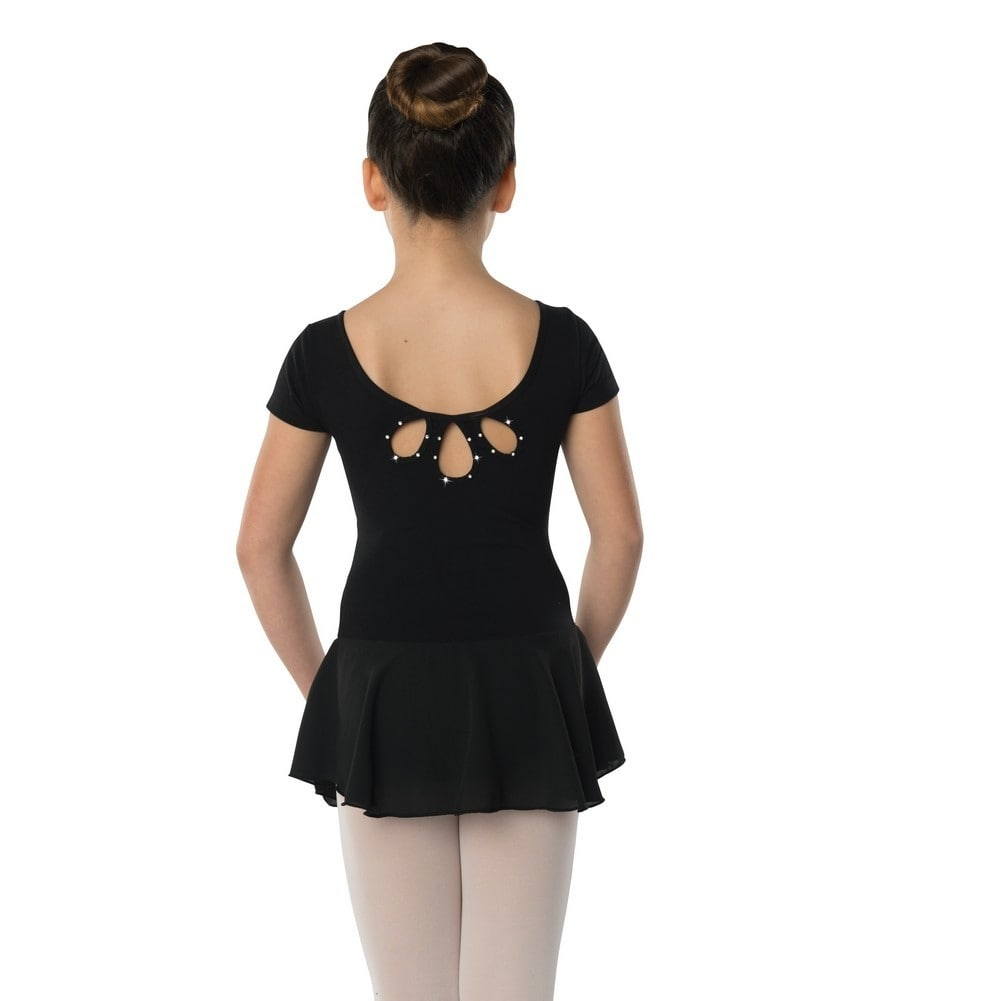 00ef1374733c Shop Danshuz Little Girls Black Studded Tear Drop Back Cheer Dance ...