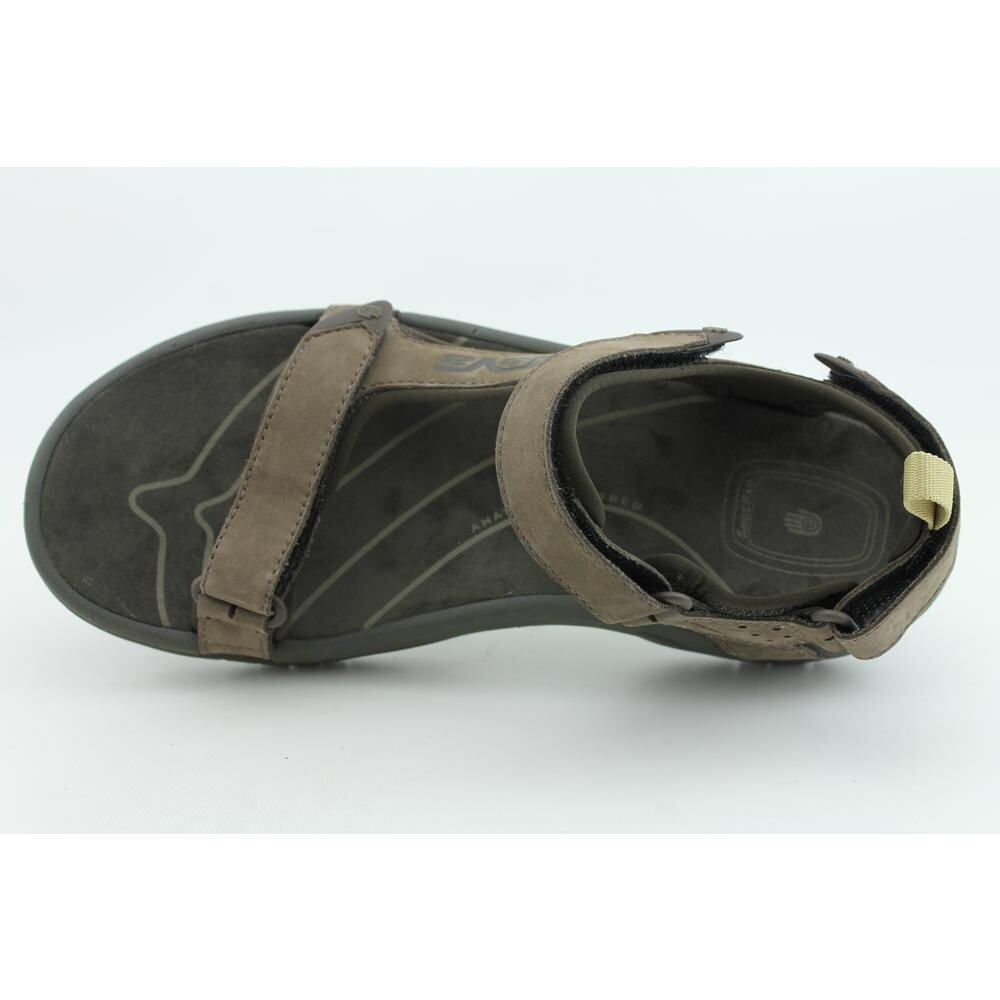 214f50d53ec35e Shop Teva Tanza Men Open-Toe Leather Brown Sport Sandal - Free Shipping On  Orders Over  45 - Overstock.com - 13853466