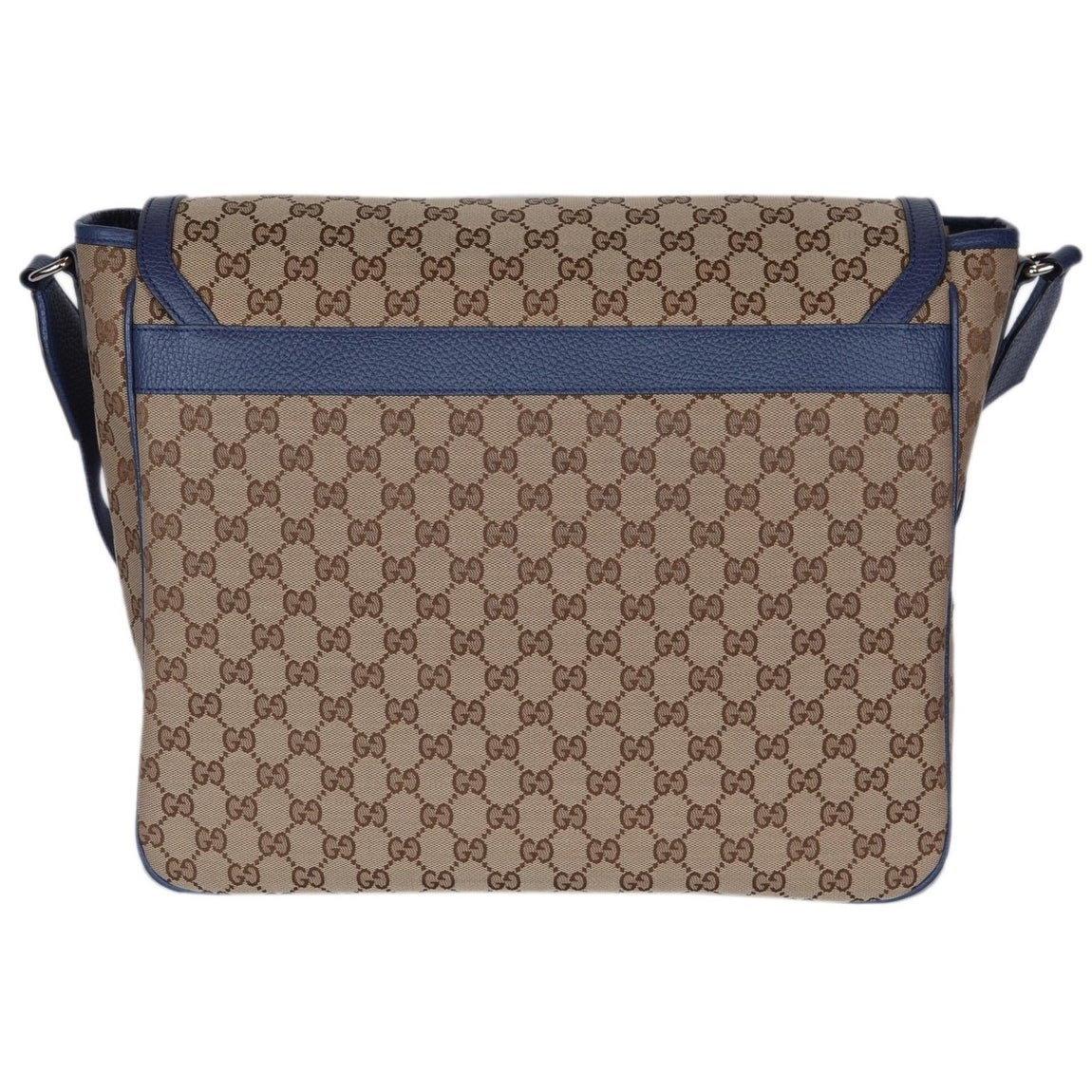 283340c045bf Shop Gucci 510340 Beige Blue Original Canvas GG Convertible Diaper Bag -  Free Shipping Today - Overstock - 21220305