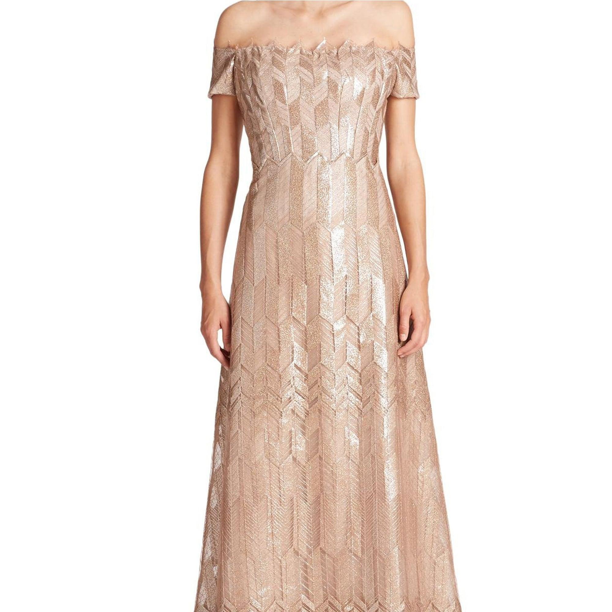 Rene Ruiz Art Deco Cap Sleeved Long Ball Evening Gown Dress - Free ...