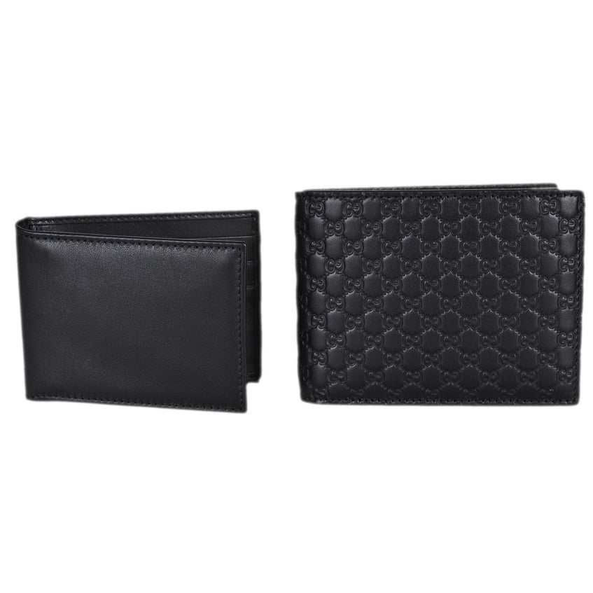 1921ea40a8a2 Shop Gucci Men's 333042 Black Leather Micro GG Bifold Wallet W/Removable ID  - 5 x 3.75 - Free Shipping Today - Overstock - 22808929