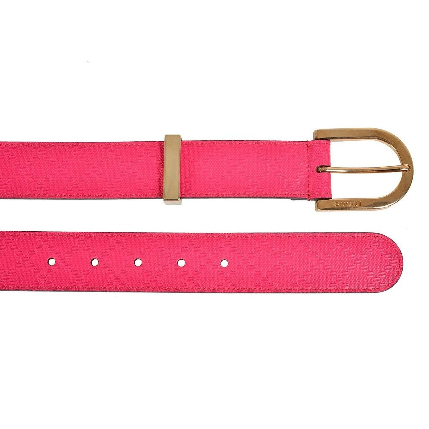 52e8ffa5b8548 Shop Gucci Women s Diamante Pink Leather Belt 354382 - Free Shipping Today  - Overstock - 25724059