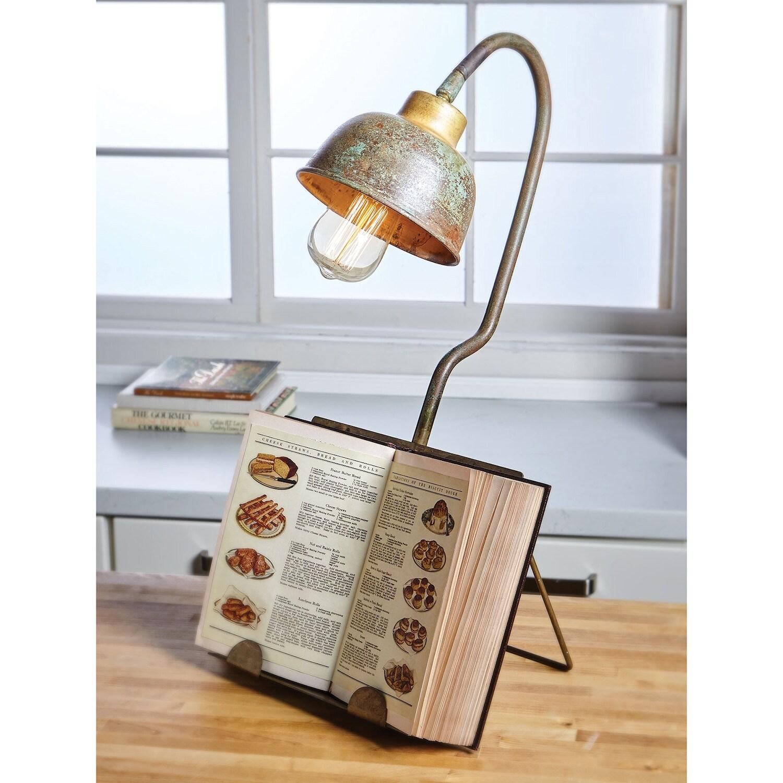 Shop Kalalou Verdigris Table Lamp with Book
