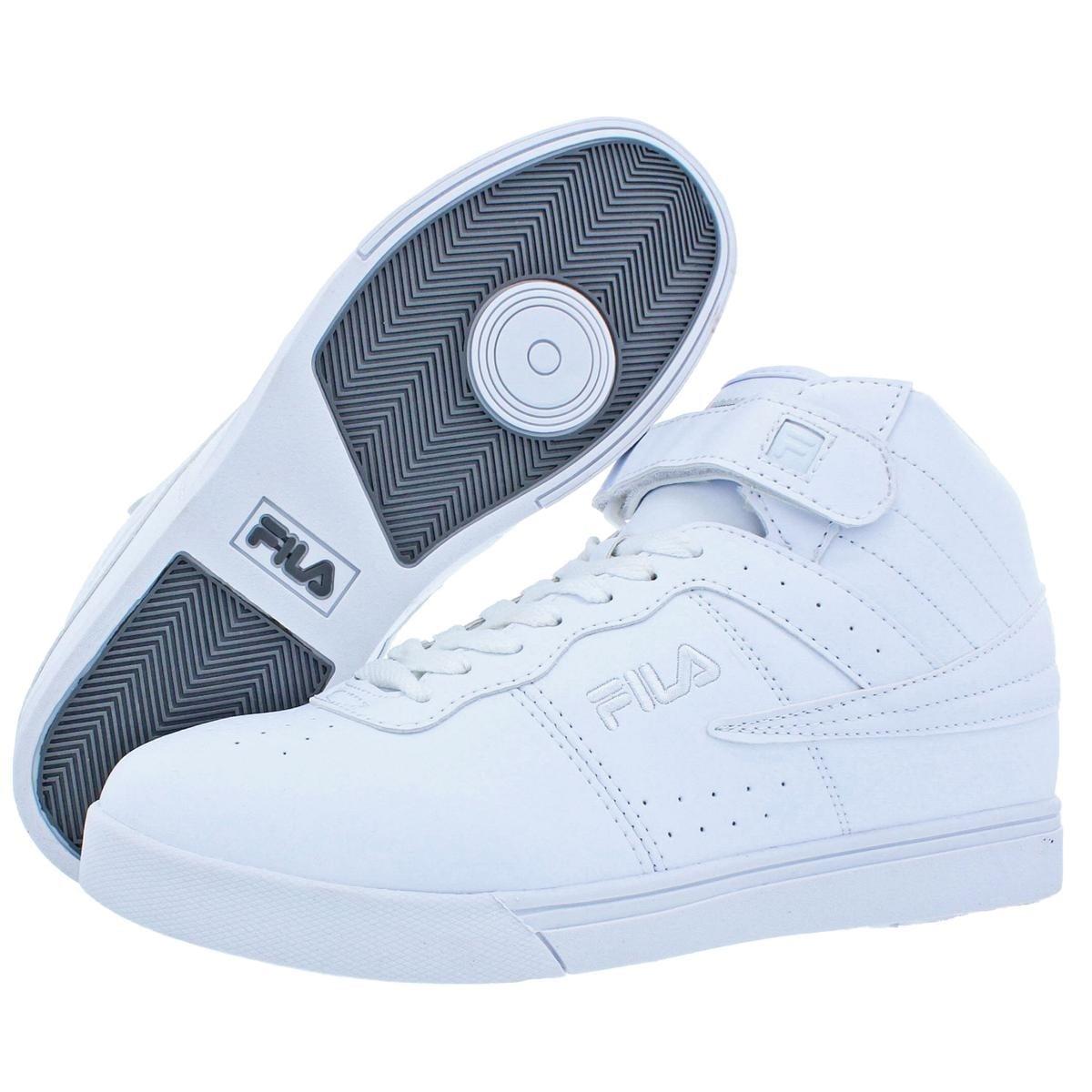 e695ac3280d Fila Mens Vulc 13 High Top Sneakers Faux Leather Contrast Trim
