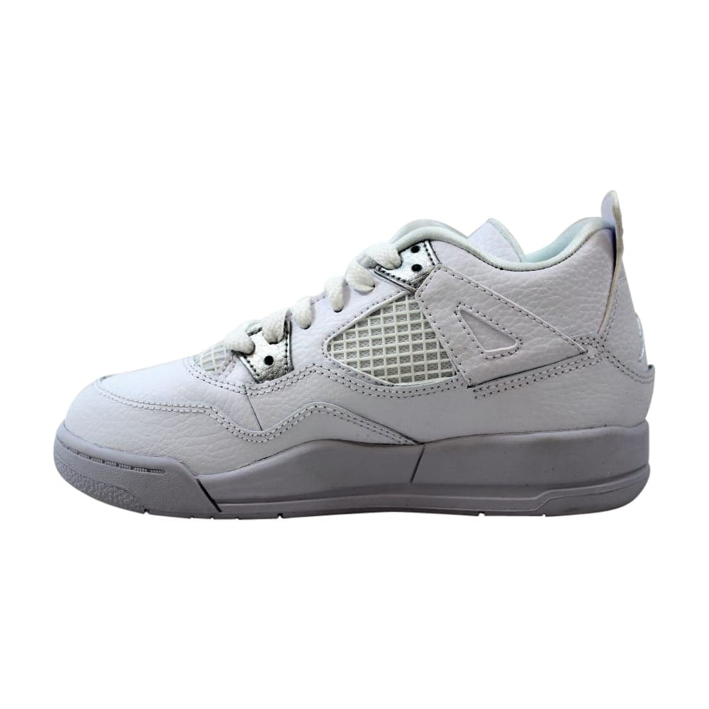 605d37462a0975 Shop Nike Air Jordan IV 4 Retro BP White Metallic Silver Pure Money 308499- 100 Pre-School - Free Shipping Today - Overstock - 27640664