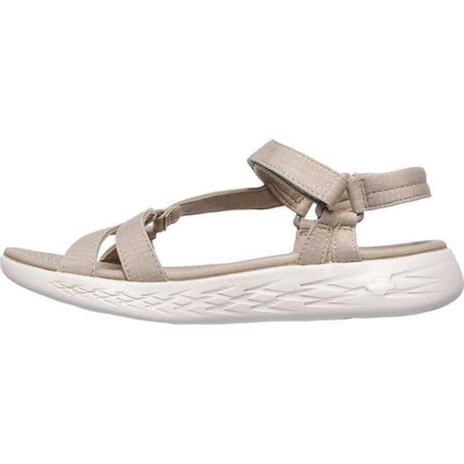 best website dd39a 74ff4 Shop Skechers Women s On the GO 600 Brilliancy Ankle Strap Sandal Natural -  On Sale - Free Shipping On Orders Over  45 - Overstock - 19114178