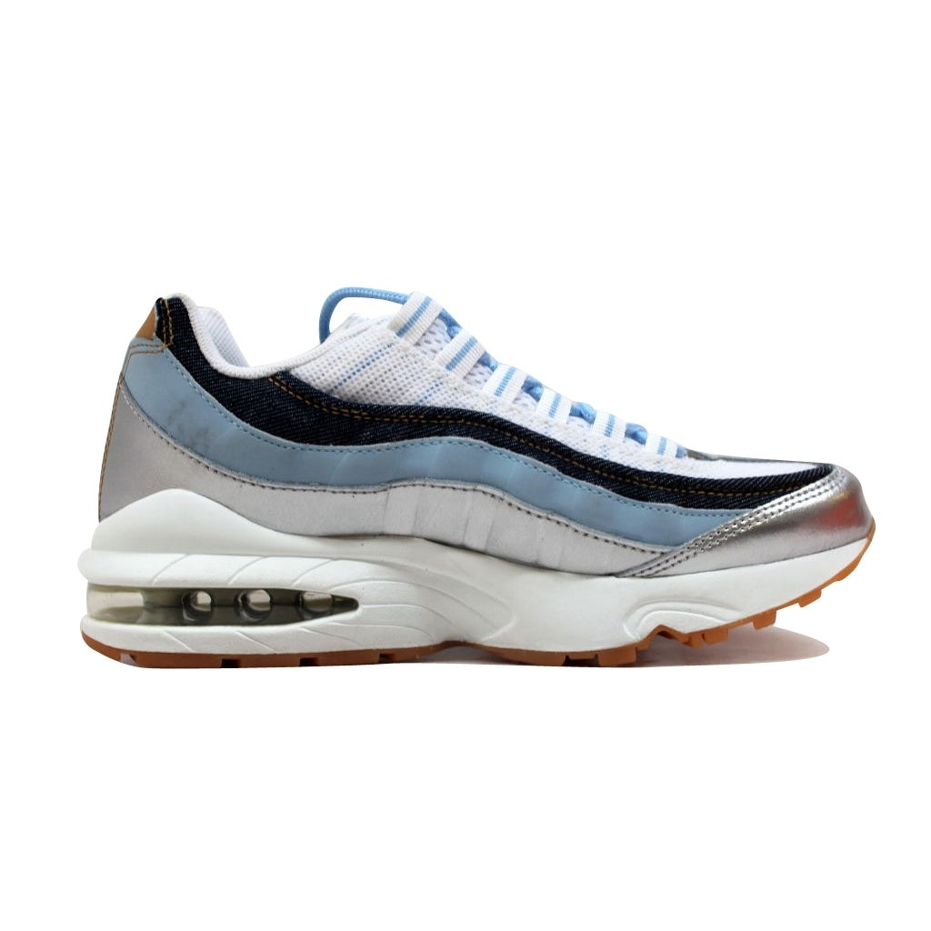 ef65170680 Shop Nike Grade-School Air Max 95 LE White/White-Ice Blue-Midnight Navy  310830-113 Size 5.5Y - Free Shipping Today - Overstock - 20131633