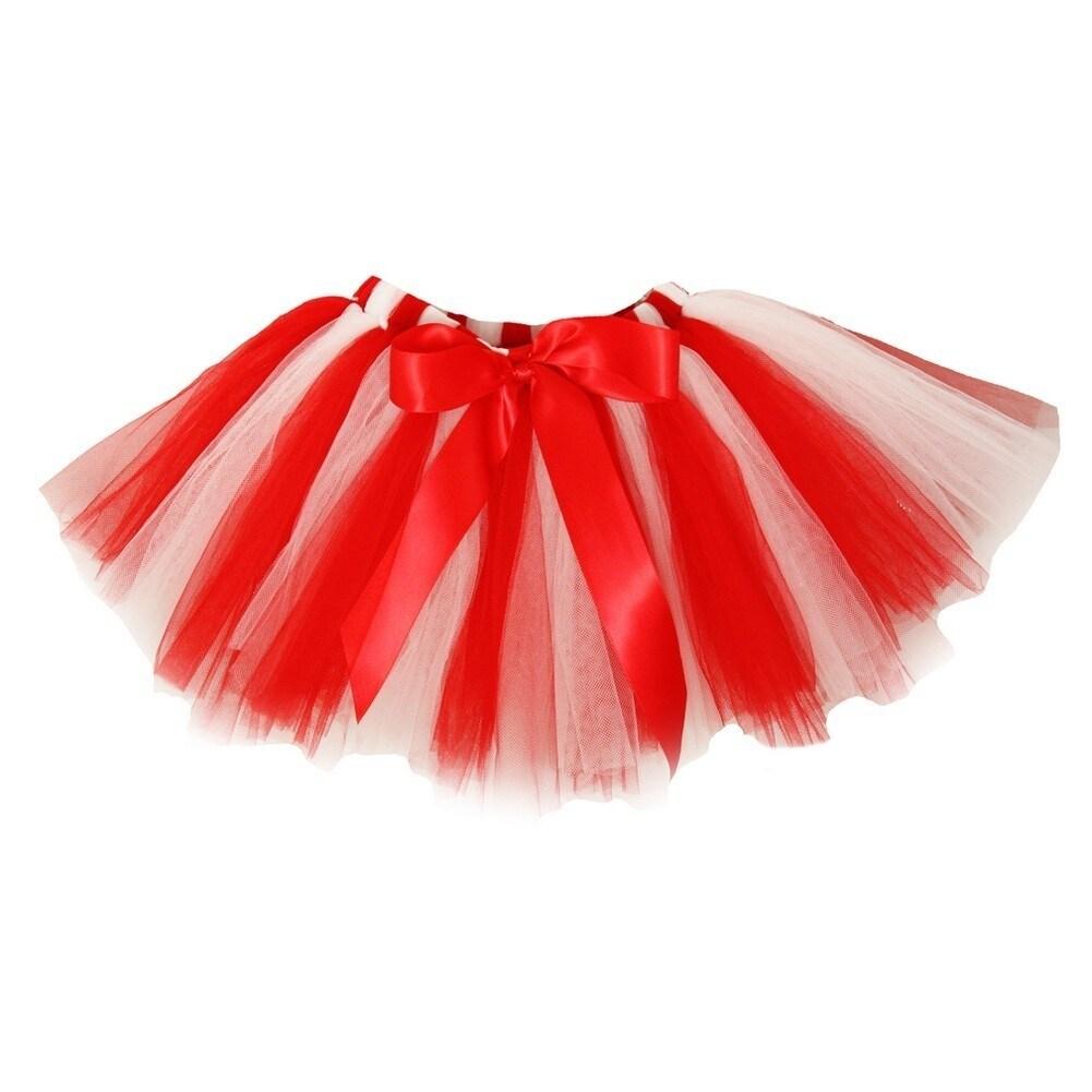f18563eb0d Shop Little Girls Red White Super Fluffy Tutu Skirt 1-4T - Free ...
