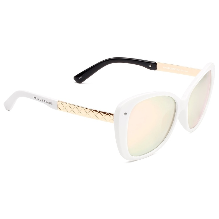 584b019cb0d Shop PRIVÉ REVAUX ICON Collection The Jackie O. Handcrafted Designer  Polarized Cat-Eye Sunglasses - Free Shipping On Orders Over  45 - Overstock  - 21682949