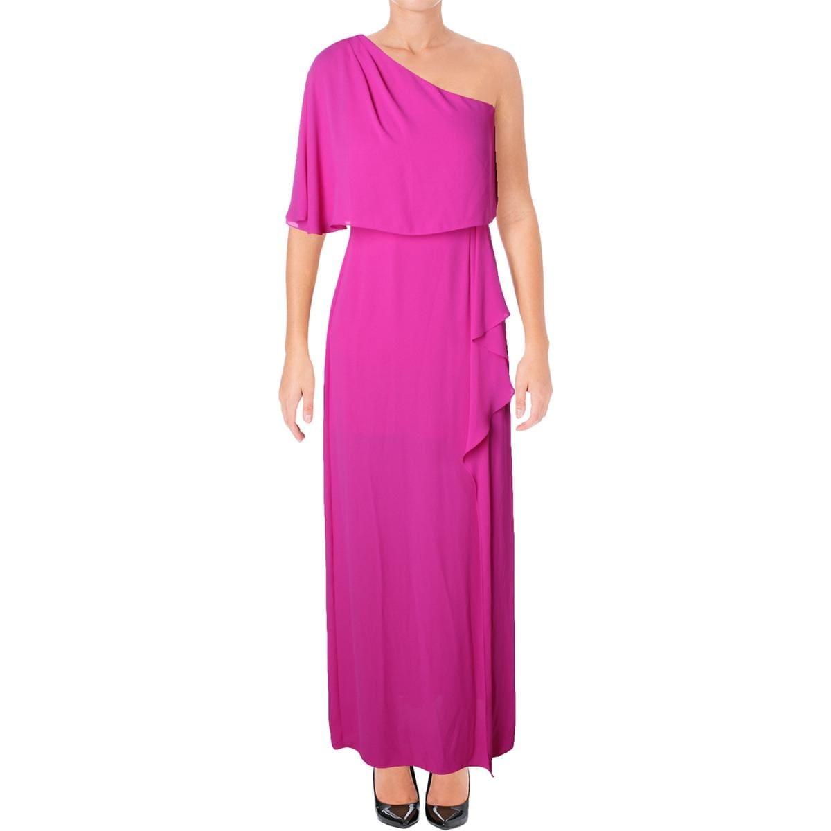BCBG Max Azria Womens Semi-Formal Dress Chiffon One Shoulder - 2 ...