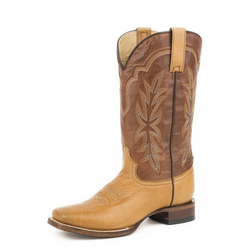 7a06164a078 Stetson Western Boots Womens Jessica Pull On Brown