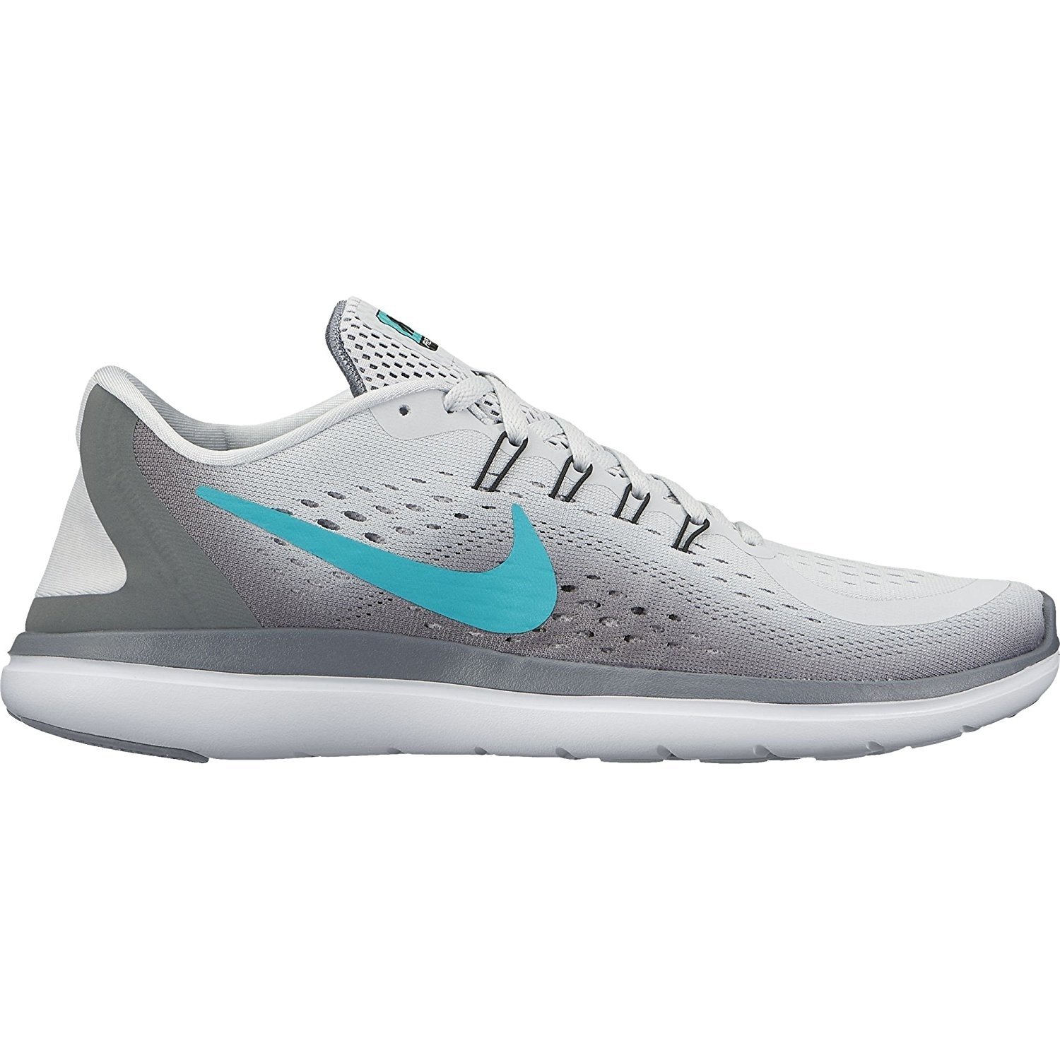 premium selection 1e42a 78c77 Shop Nike Women s Flex 2017 Running Shoes Pure Platinum  Clear Jade-Grey  Black - Free Shipping Today - Overstock - 17949926